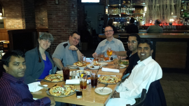 Dinner with 4  IBM Information Mgmt Champions