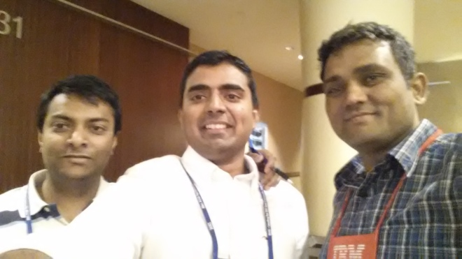With Prashant Sogarwal and my friend Abhik Roy