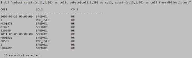 select using substr